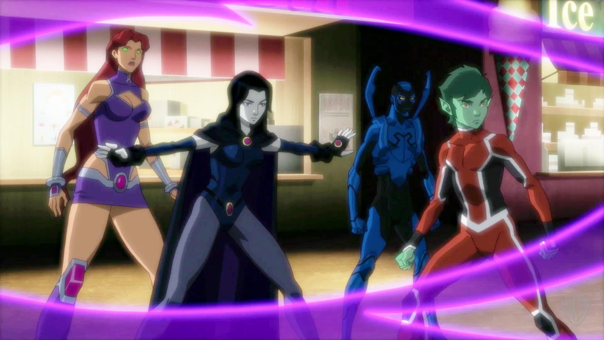 New Clip From Justice League Vs Teen Titans Shows The Teens In Action