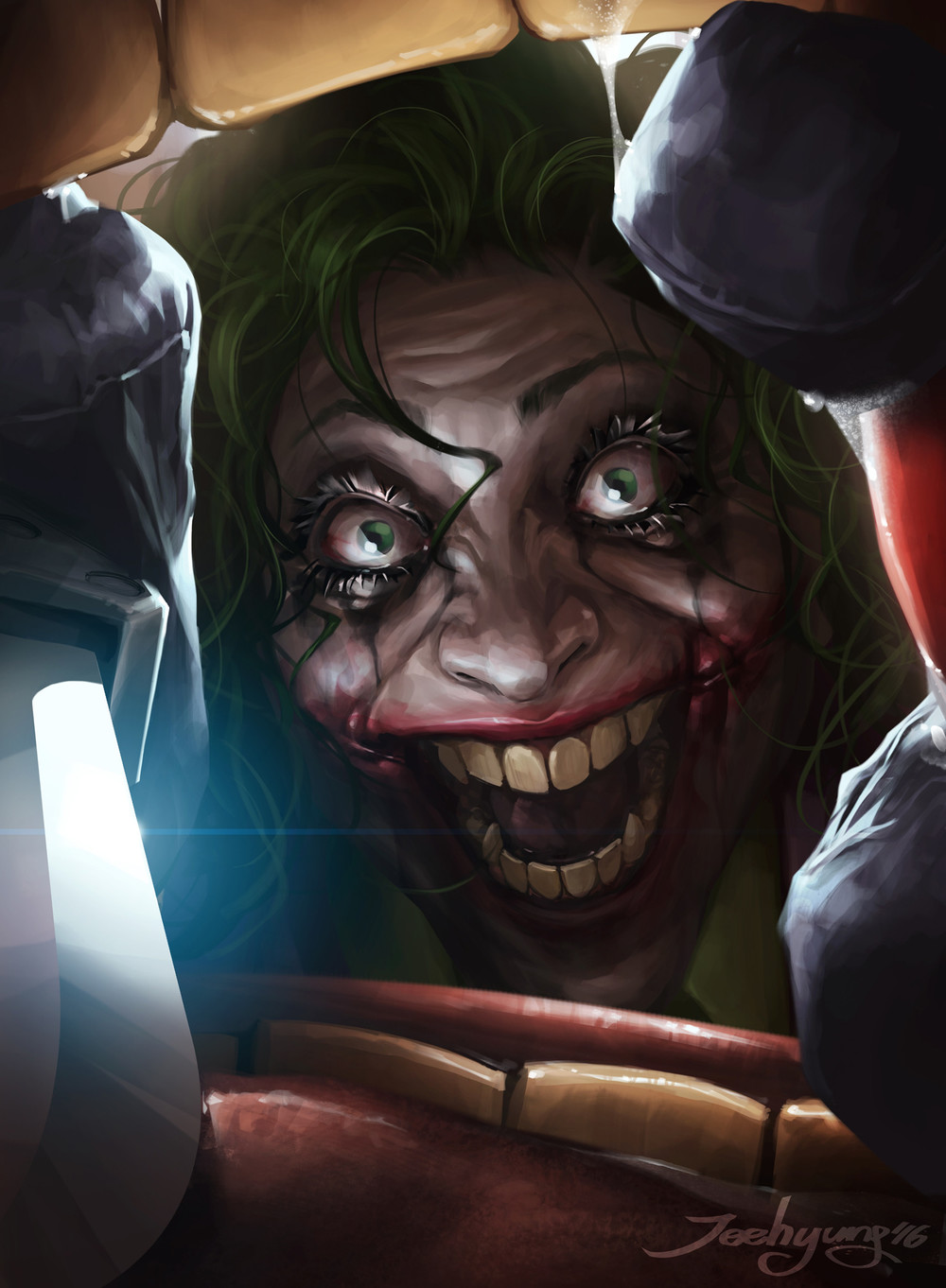 Terrifying Art of Martha Wayne as The Joker from Flashpoint ...