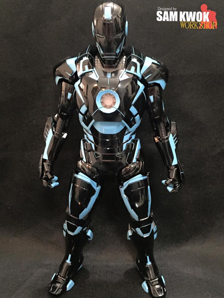 Toys For Gentleman : Tron style custom made iron man action figure — geektyrant