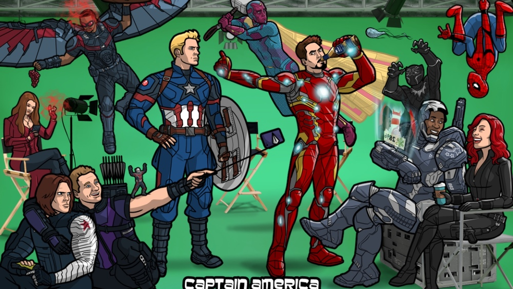 Captain America Civil War Reimagined In The Style Of