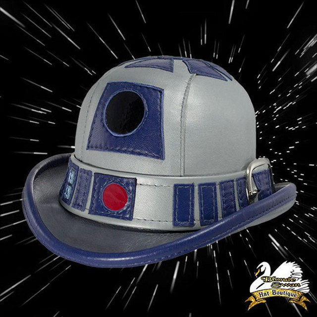 r2-d2-inspired-leather-derby-hat