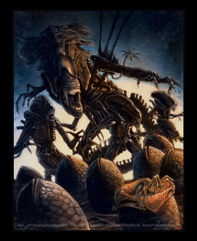 Alien Movie: Wicked Awesome Collection Of ALIENS Movie Fan Art