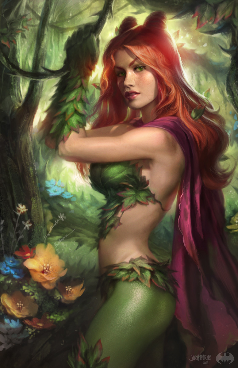 beautiful-poison-ivy-and-catwoman-art-by-josh-burns