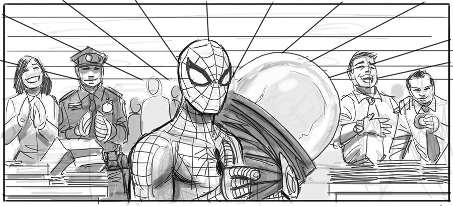 Concept Art For Sam Raimi S Spider Man 4 Features Spidey