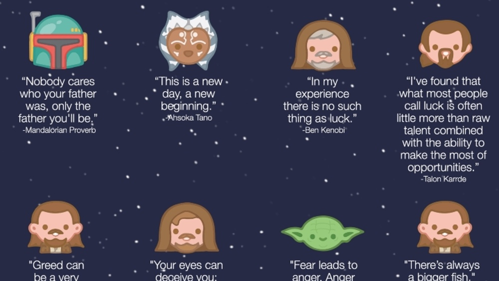 28 words of wisdom from star wars quotes � infographic