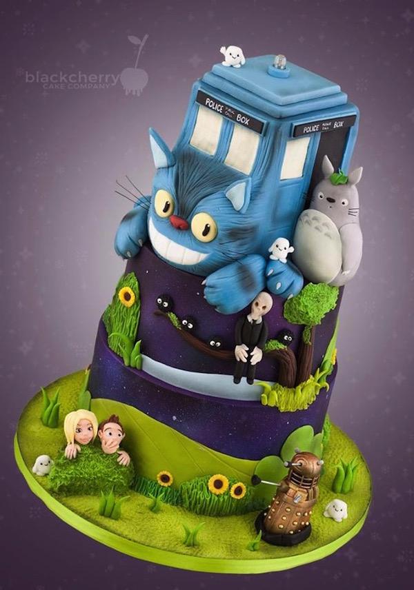 my-neighbor-totoro-and-doctor-who-mashup-cake-design-my-neighbor-doctoro1
