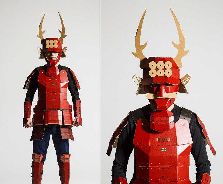 cool-samurai-armor-made-out-of-cardboard