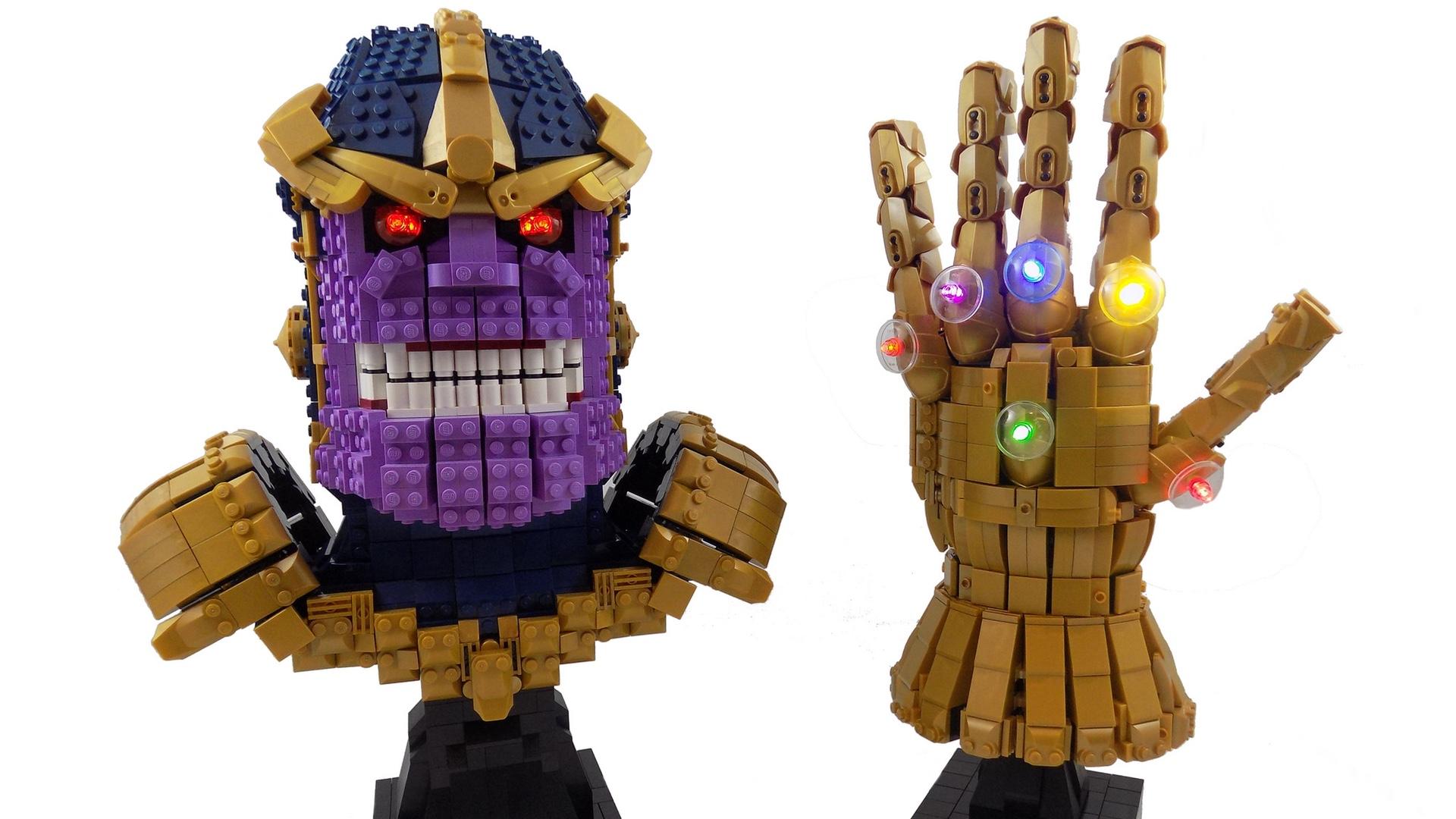 Lego Thanos Wields The Power Of The Lego Infinity Gauntlet Geektyrant