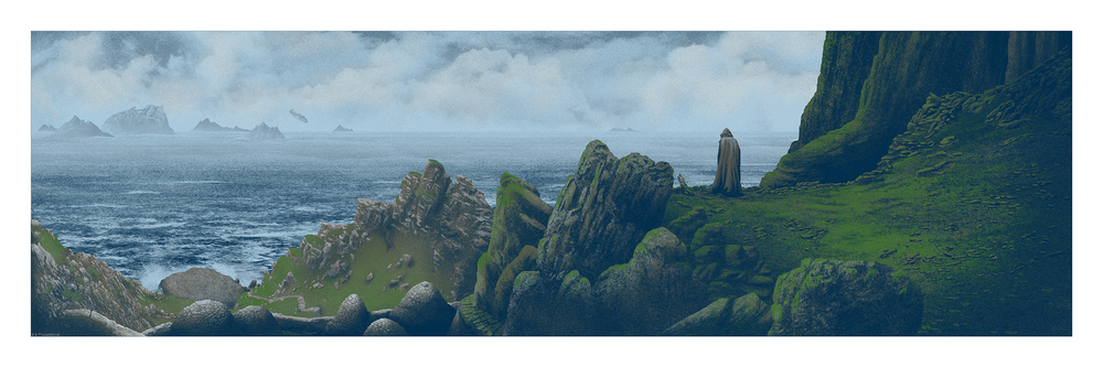 """Hope is not lost today. It is found. "" (Variant) 12 x 36 inches 7 color screen print Numbered edition of 250 $65"