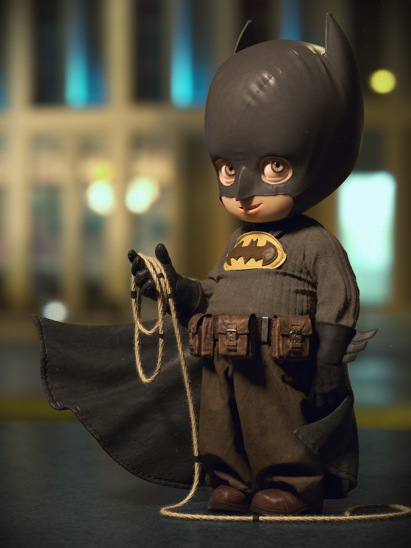 adorably-cool-little-batman-digital-art-by-quentin-chaillet
