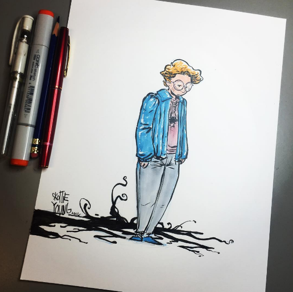 STRANGER THINGS Fan Art By Scottie Young