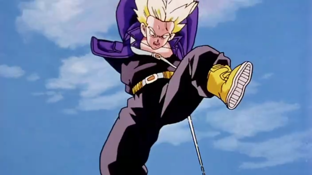 man at arms forges future trunks sword from dragon ball z