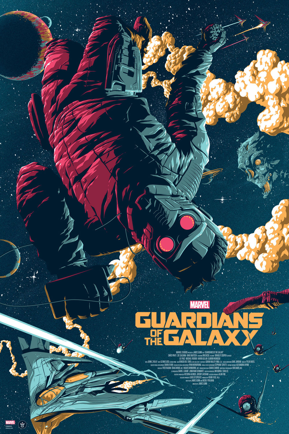 cool guardians of the galaxy poster art by florey geektyrant. Black Bedroom Furniture Sets. Home Design Ideas