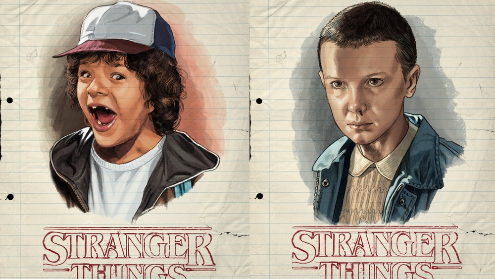 Wonderful Retro Stranger Things Character Portraits By