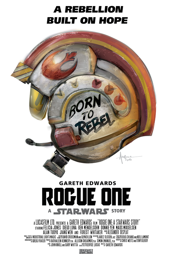 star wars rogue one born to rebel fan posters inspired by full