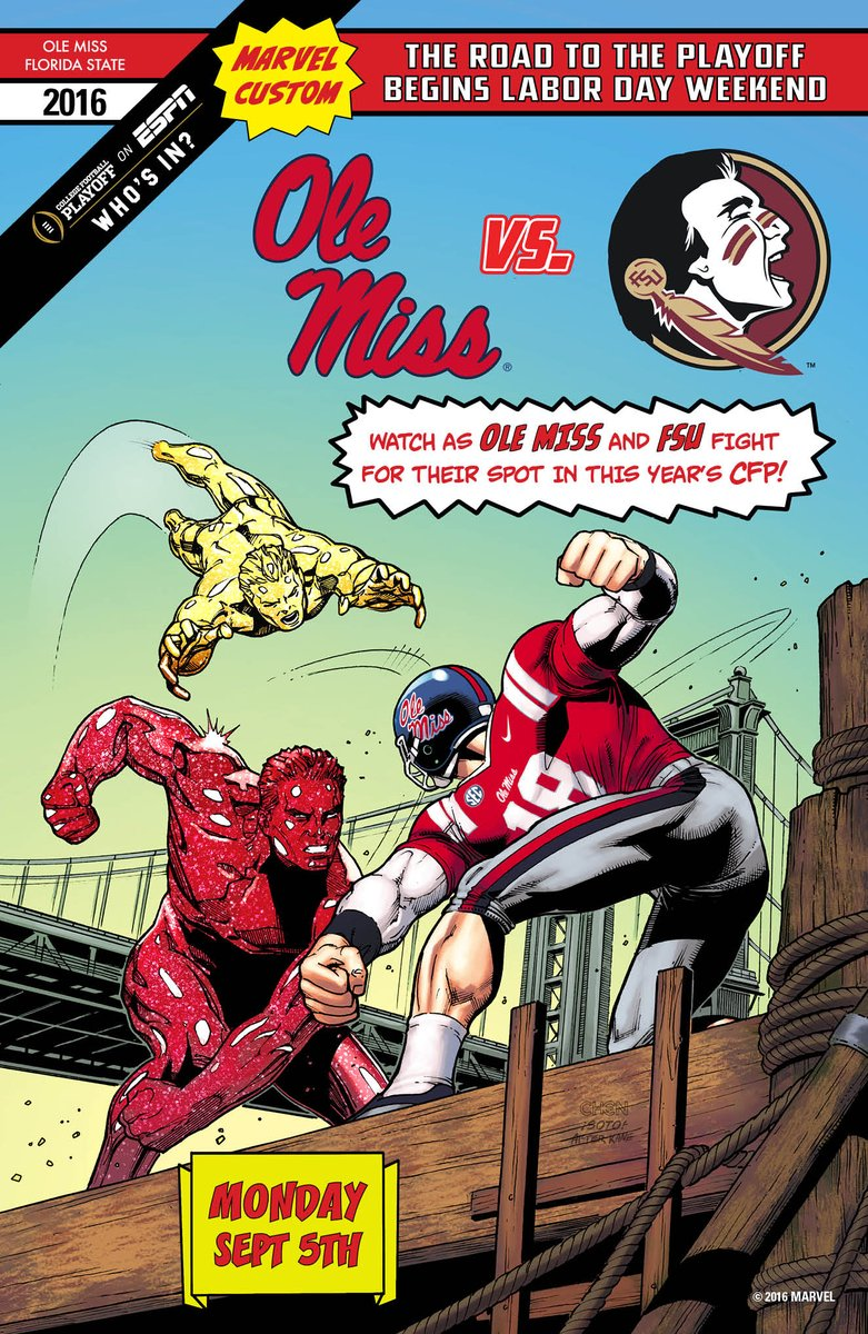 Marvel Releases Custom Comic Book Covers for College Football Kickoff — GeekTyrant