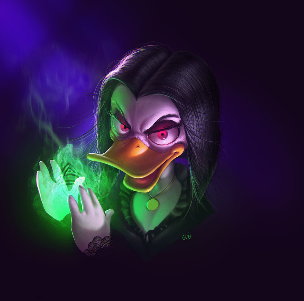 darkwing-duck-and-magica-despell-character-art-by-ricardo-chucky3
