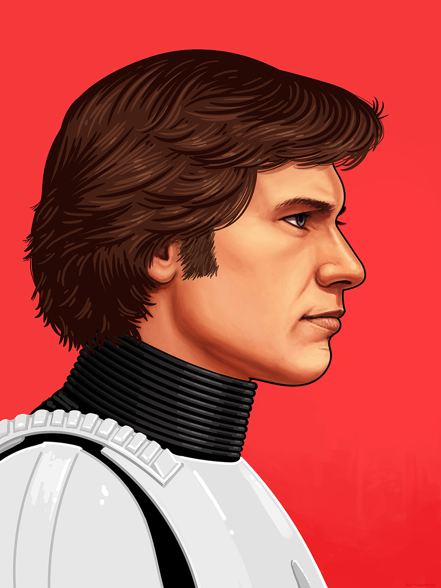 """Han Soloby Mike Mitchell.12""""x16"""" Giclee Print. Signed & Hand Numbered.Available Thursday (9/22) at 12PM CST through Sunday (9/25) at 12PM CST.Printed by Static Medium.Expected to ship in 6-8 weeks.$55"""