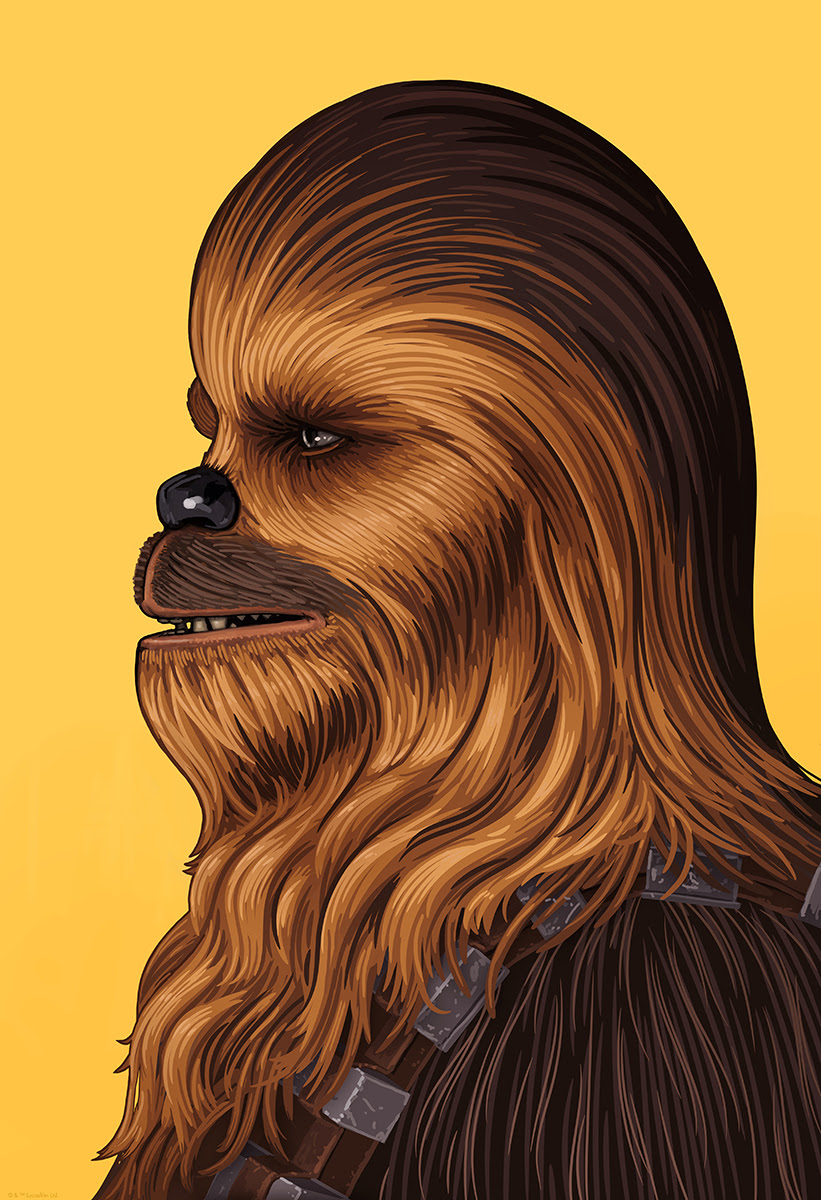 """Chewbacca by Mike Mitchell.13""""x19"""" Giclee Print. Signed & Hand Numbered.Available Thursday (9/22) at 12PM CST through Sunday (9/25) at 12PM CST.Printed by Static Medium.Expected to ship in 6-8 weeks.$60"""
