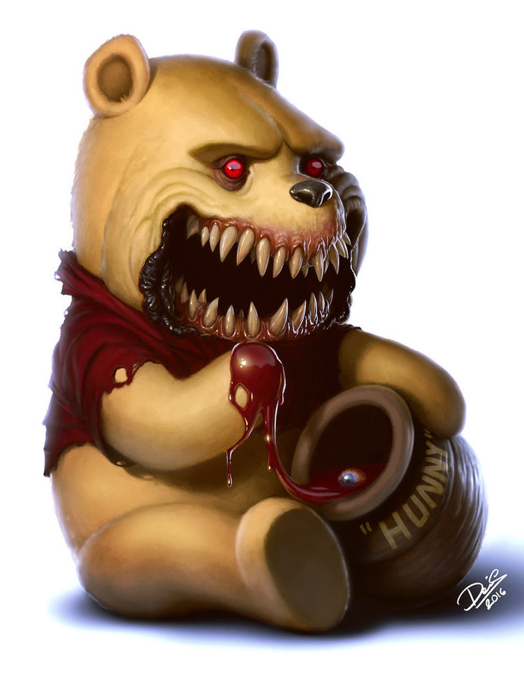 Popular Cute Cartoon Characters Transformed into Horrific Monsters