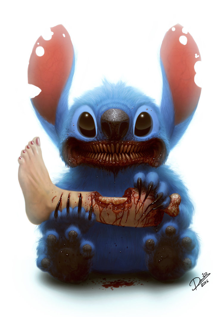 Popular cute cartoon characters transformed into horrific monsters in fan art geektyrant - Dessin anime qui fait peur ...