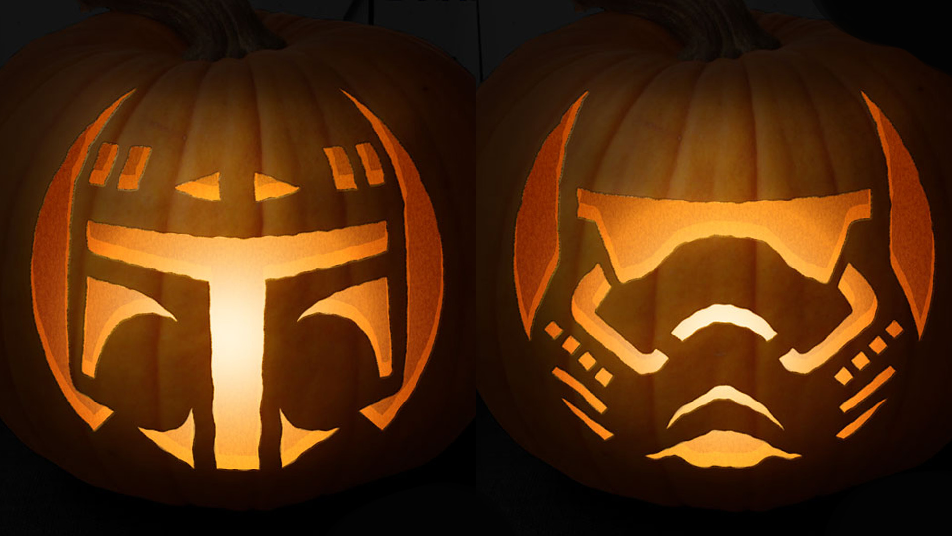 Star wars themed pumpkin carving templates will give you the looking for a good idea for carving your jack olantern for halloween this year artist anthony herrera sent us a link to some pumpkin carving templates he maxwellsz