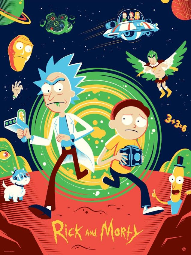 rick-and-morty-and-south-park-poster-art-created-by-tom-whalen1