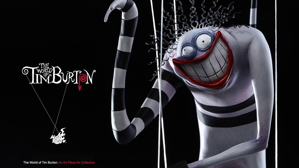 hot toys pays tribute to tim burton with creepy statue based on one of his drawings from the