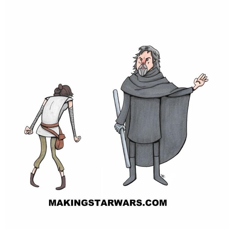Люк тренирует Рей - Звездные Войны 8