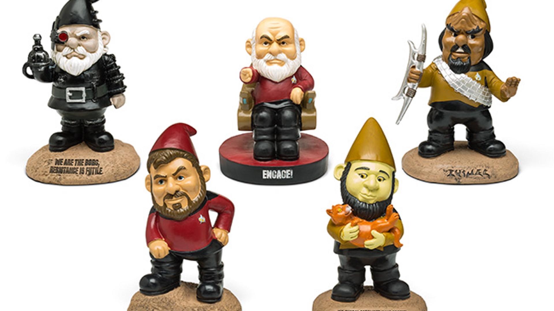 Gnome In Garden: STAR TREK: THE NEXT GENERATION Family Car Decals