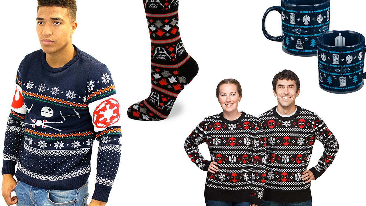Geeky Ugly Christmas Sweaters, Socks, Mugs, and Pants — GeekTyrant