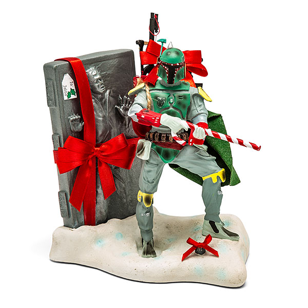 boba-fett-spreads-the-holiday-cheer-with-han-solo-gift-in-fun-new-star-wars-statue