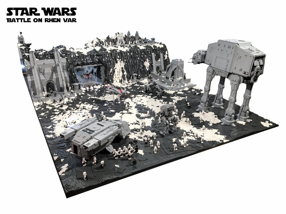 insane star wars lego diorama features the epic battle of rhen va geektyrant. Black Bedroom Furniture Sets. Home Design Ideas