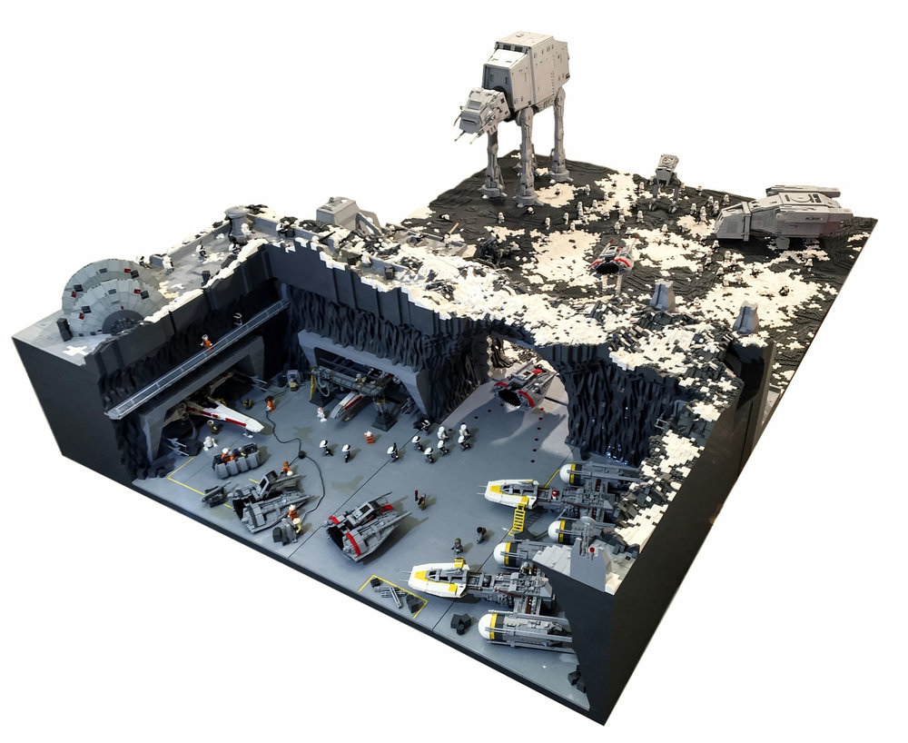 Insane star wars lego diorama features the epic battle of - Lego star warse ...