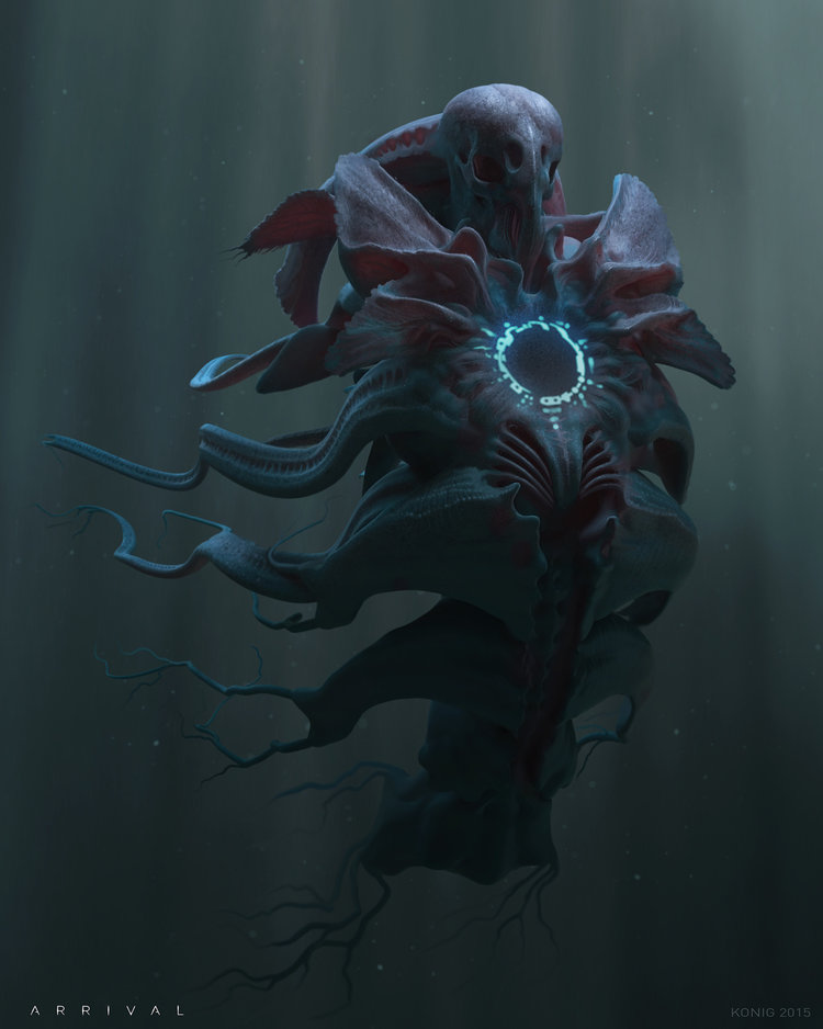 alternate alien concept designs for the fantastic sci fi film