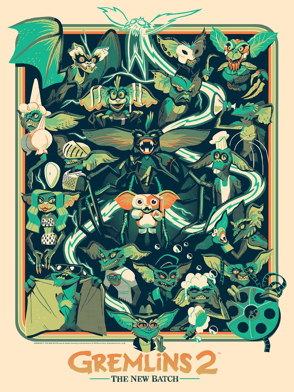 outstanding mondo poster art for gremlins and gremlins 2