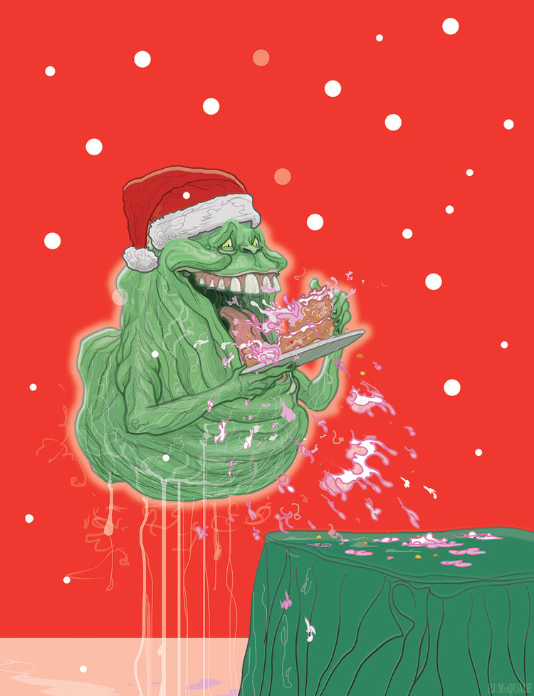 Ghostbusters-Slimer-Christmas-card-PJ-McQuade.jpg