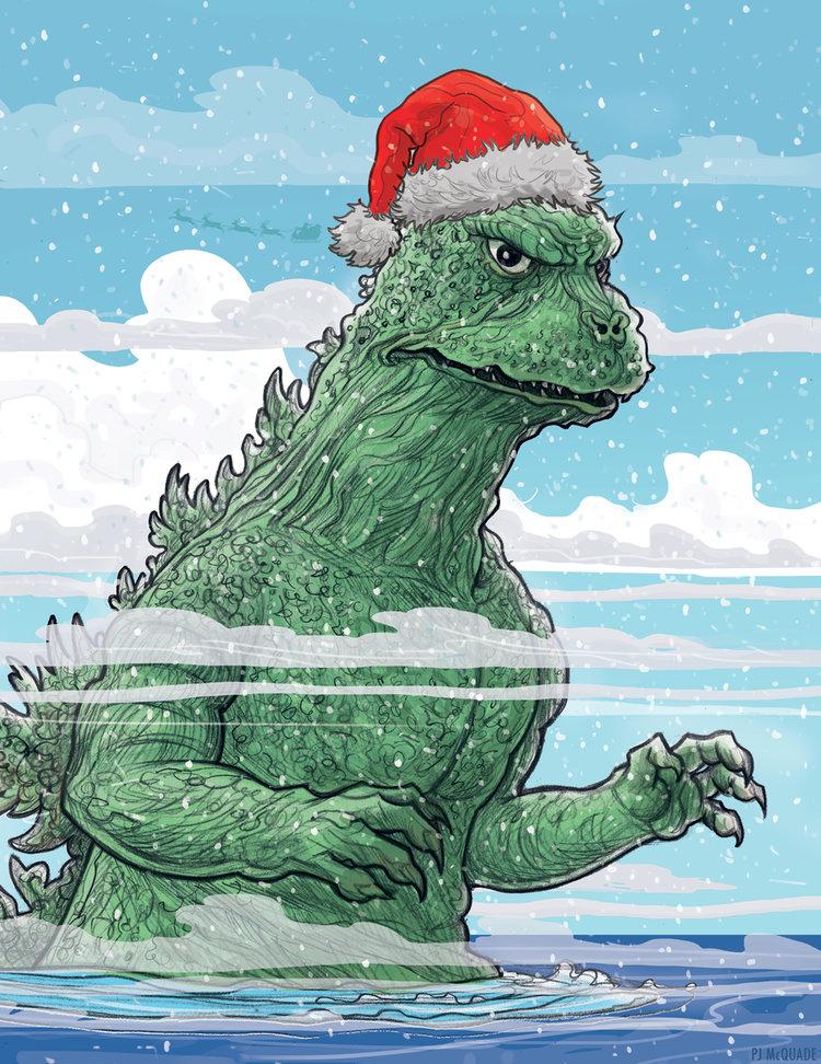 Godzilla-Holiday-card-PJ-McQuade.jpg