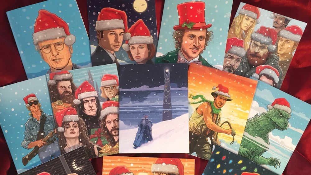 fantastic new geek culture christmas card art features