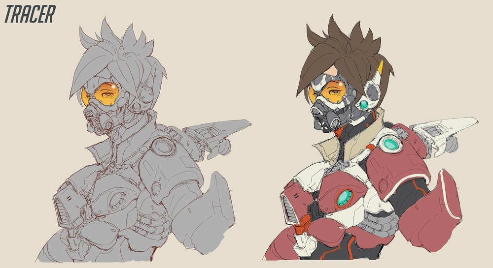 Characters From Overwatch Get A Crazy Cool Cyberpunk Art