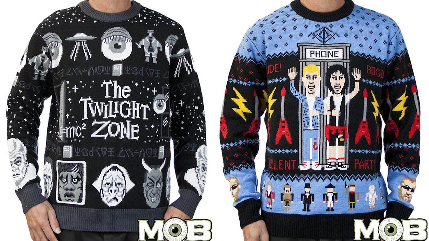 Have an Excellent Christmas Bill and Ted Xmas Jumper Top