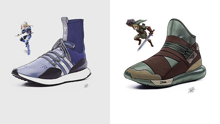 To apply for a design internship for Adidas, artist Paxton Porter designed  a couple pairs of shoes inspired by The Legend of Zelda.