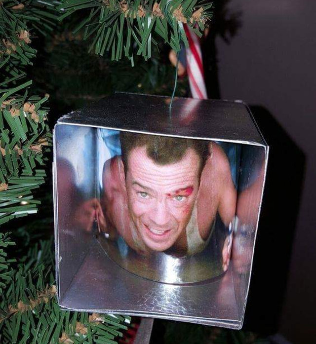 I'm super jealous and want this on my Christmas tree next year! Anyone else  have homemade Christmas ornaments they'd like to share? - The World Needs More DIE HARD Christmas Ornaments €� GeekTyrant