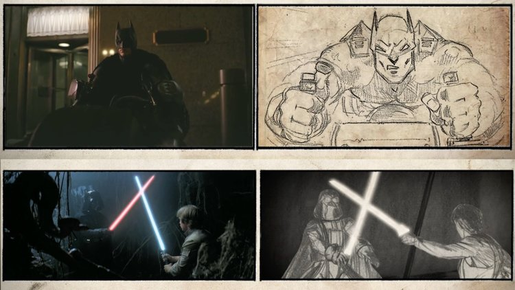 Watch Movie Scenes Play Out Next To Their Original Storyboard Art