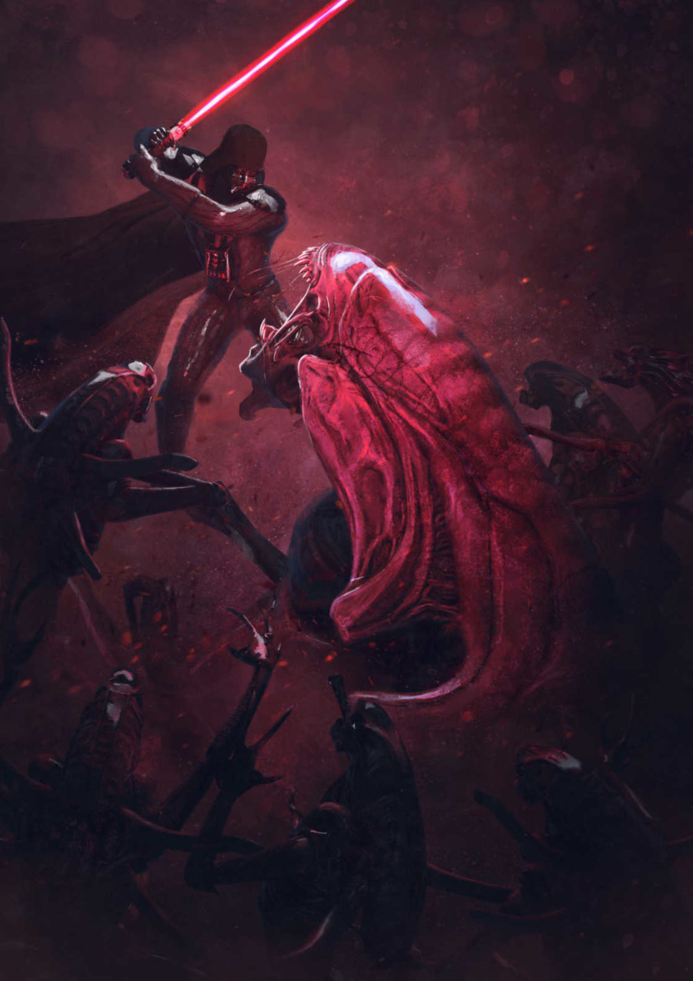 darth vader vs xenomorph in gloriously badass star wars and