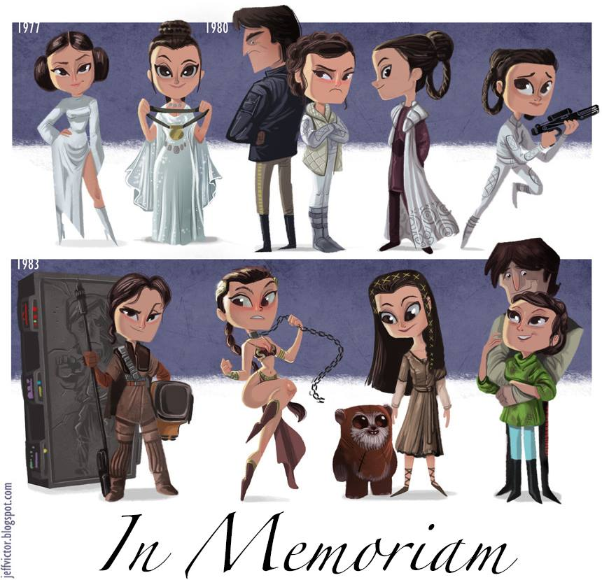 artist-jeff-victor-pays-tribute-to-carrie-fisher-in-princess-leia-cartoon-style-evolution