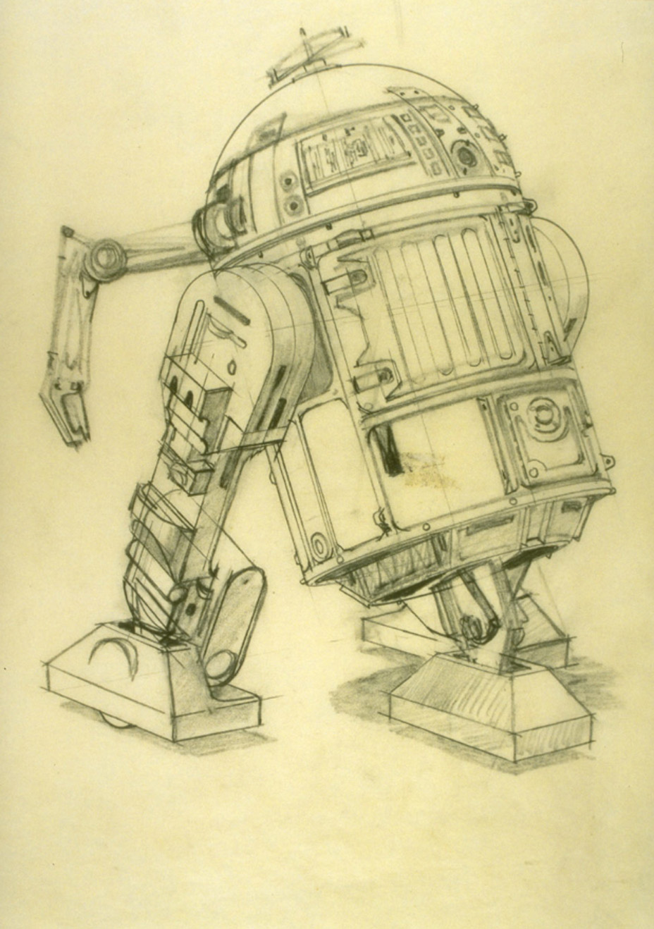 R2-D2 concept art from A New Hope