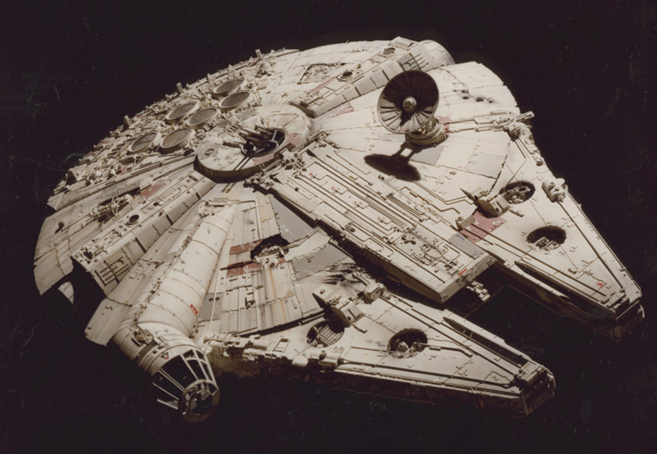 A model of the Millennium Falcon from A New Hope