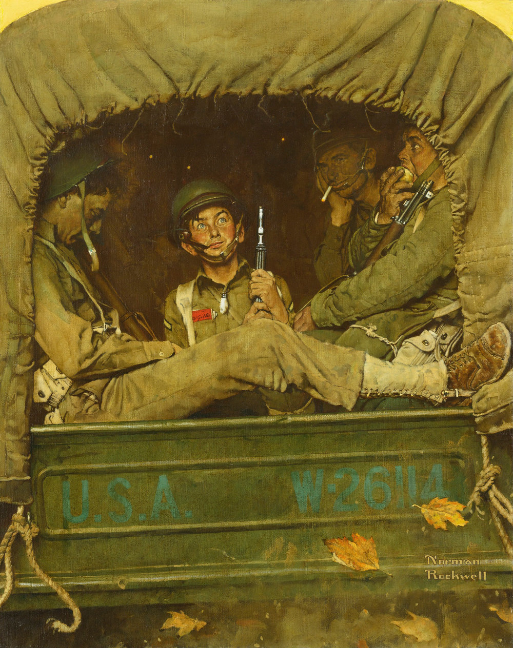 "Norman Rockwell's 1941 work ""Willie Gillis in Convoy"""