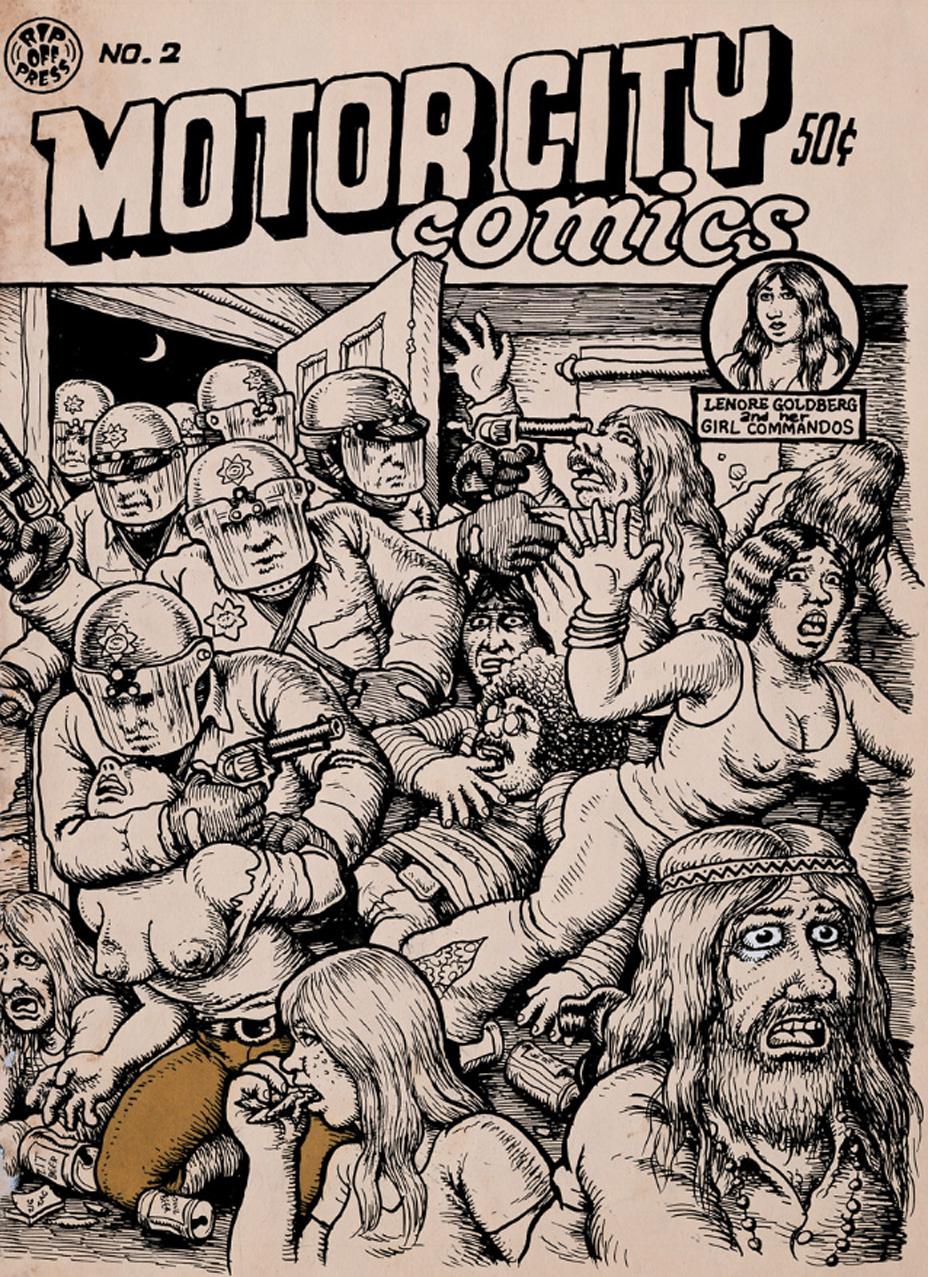 Original cover art to Robert Crumb's Motor City Comics No. 2